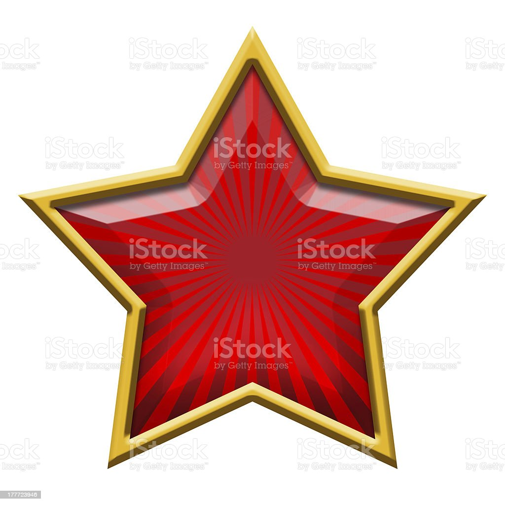 Red Star in Gold royalty-free stock photo