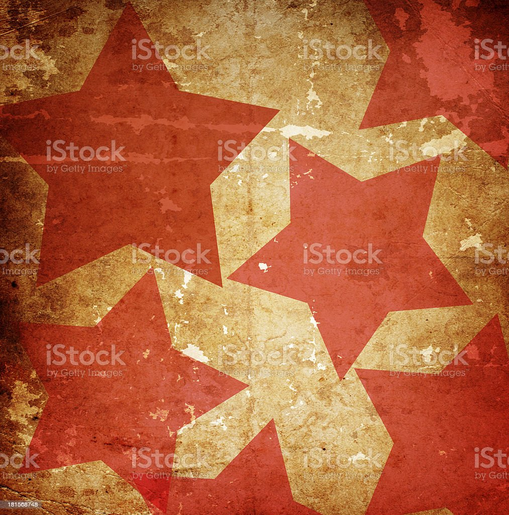 Red star on an orange background stock photo