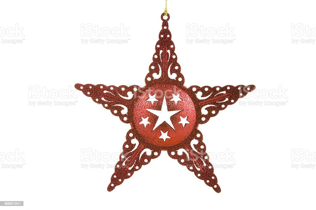 Red Star Ornament royalty-free stock photo