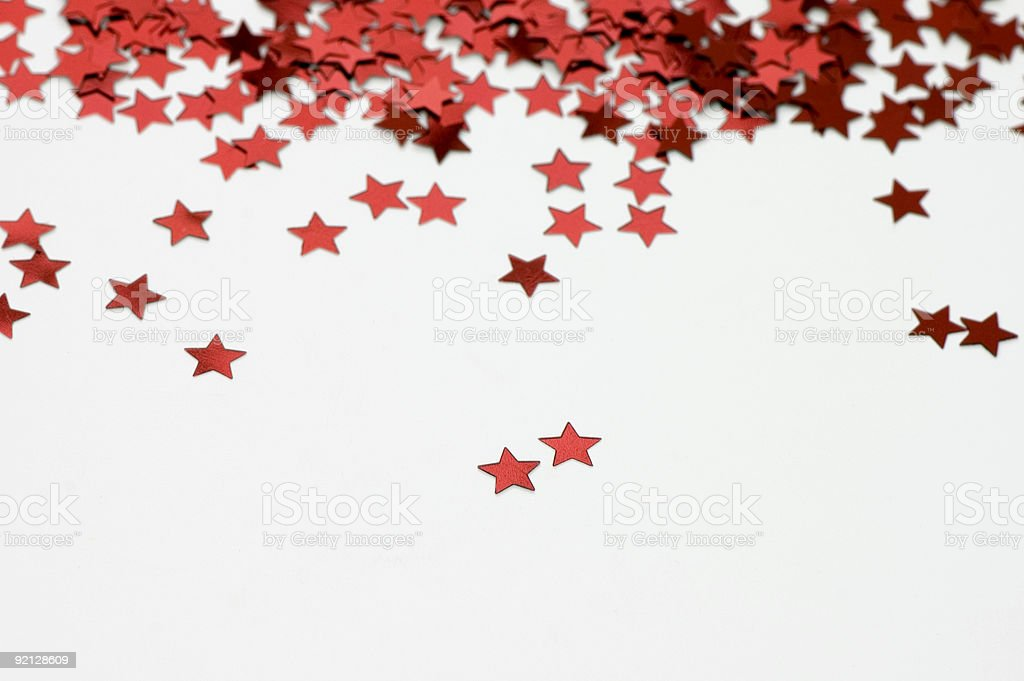 Red Star Raining royalty-free stock photo