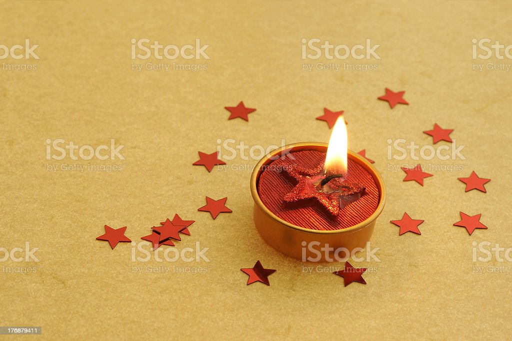 Red Starcandle royalty-free stock photo