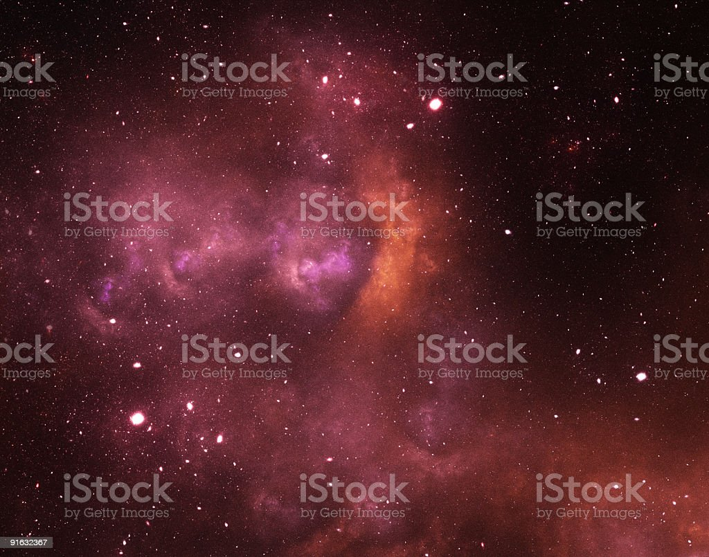 Red starfield royalty-free stock photo