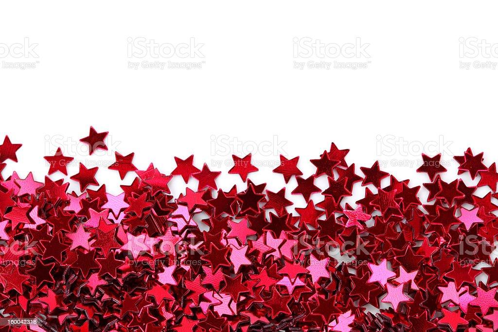 Red stars confetti royalty-free stock photo
