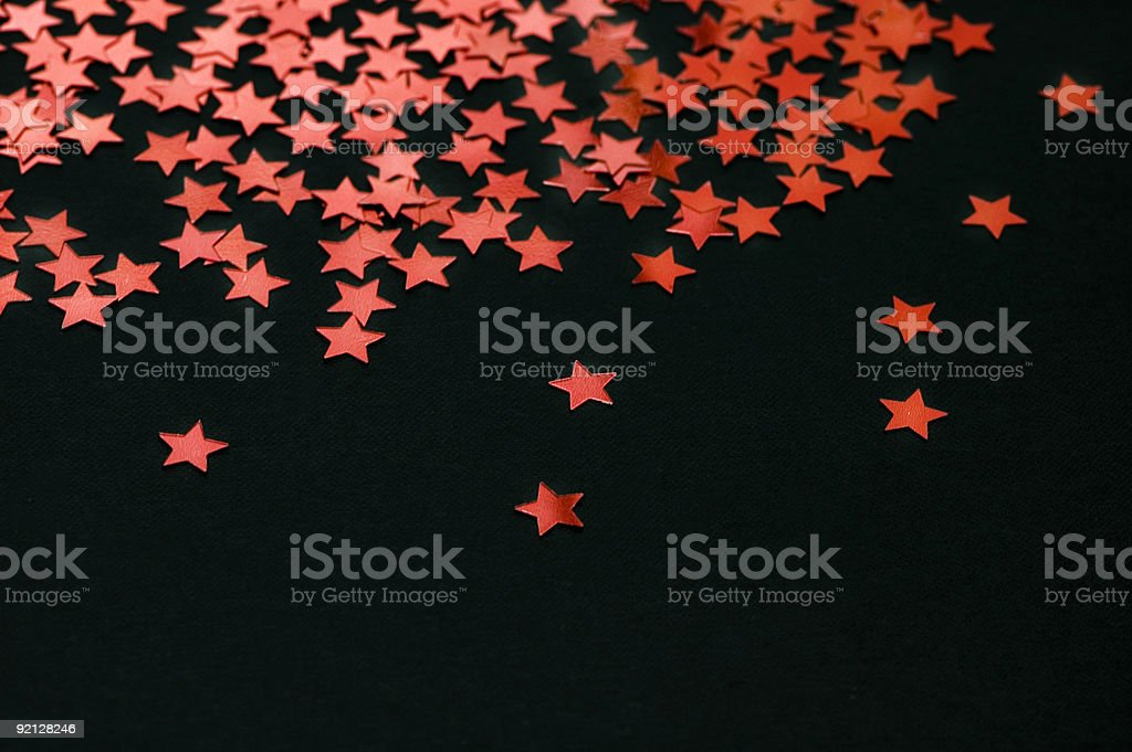 Red Stars on Black royalty-free stock photo