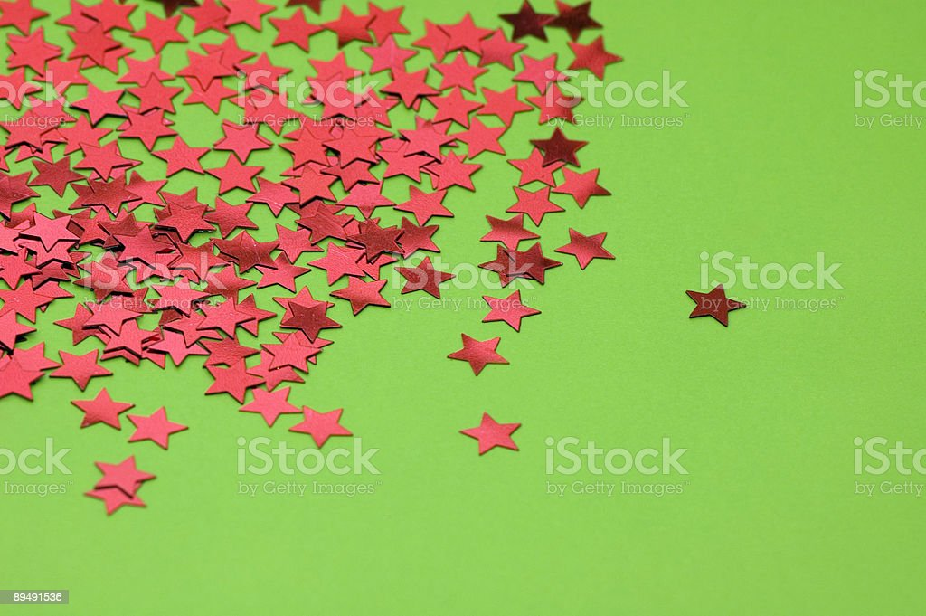 Red Stars on Green royalty-free stock photo
