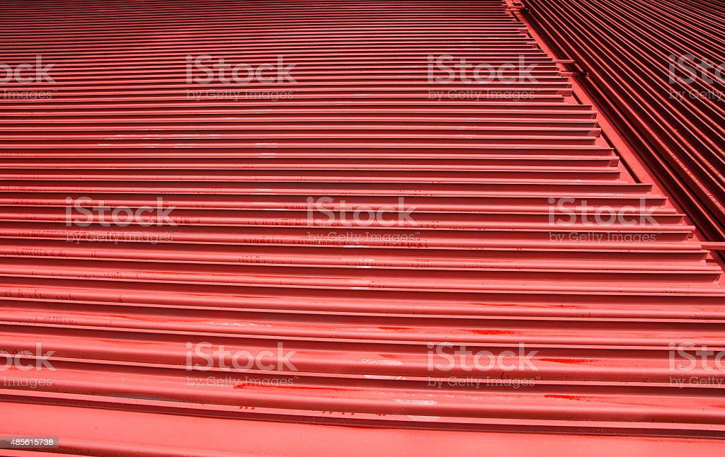 Red steel. stock photo