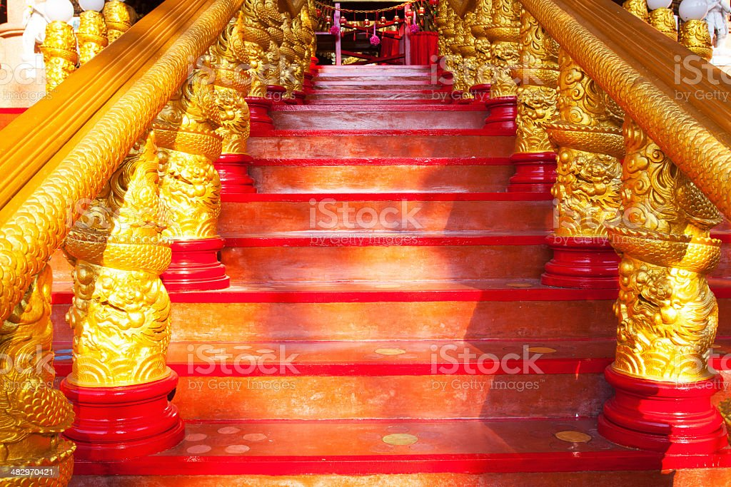 Red steps royalty-free stock photo