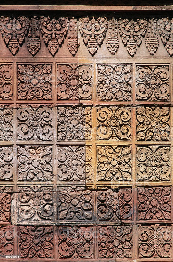 Red stone carving royalty-free stock photo