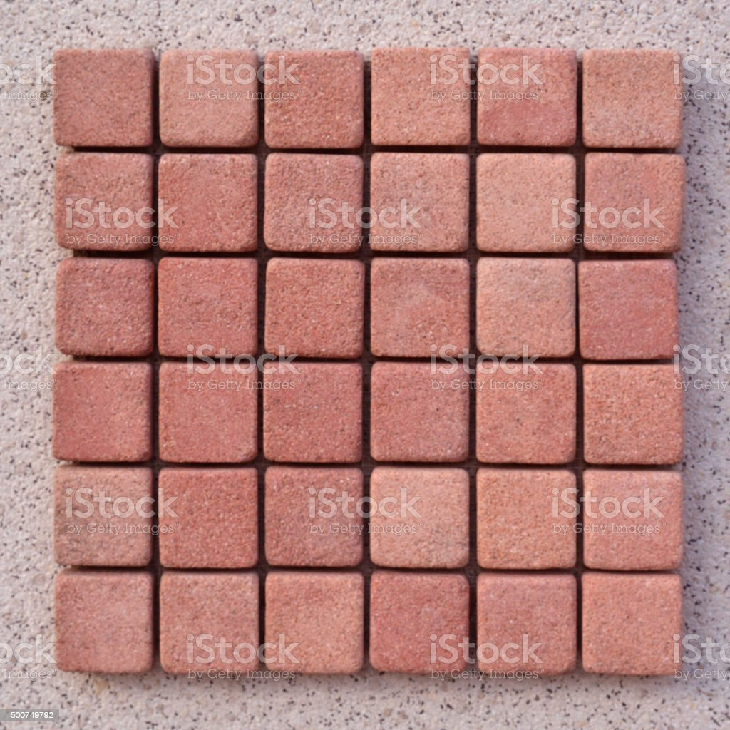 Red stone cubes stock photo