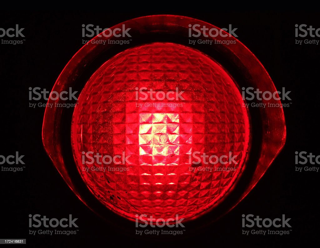 Red STOP Light stock photo