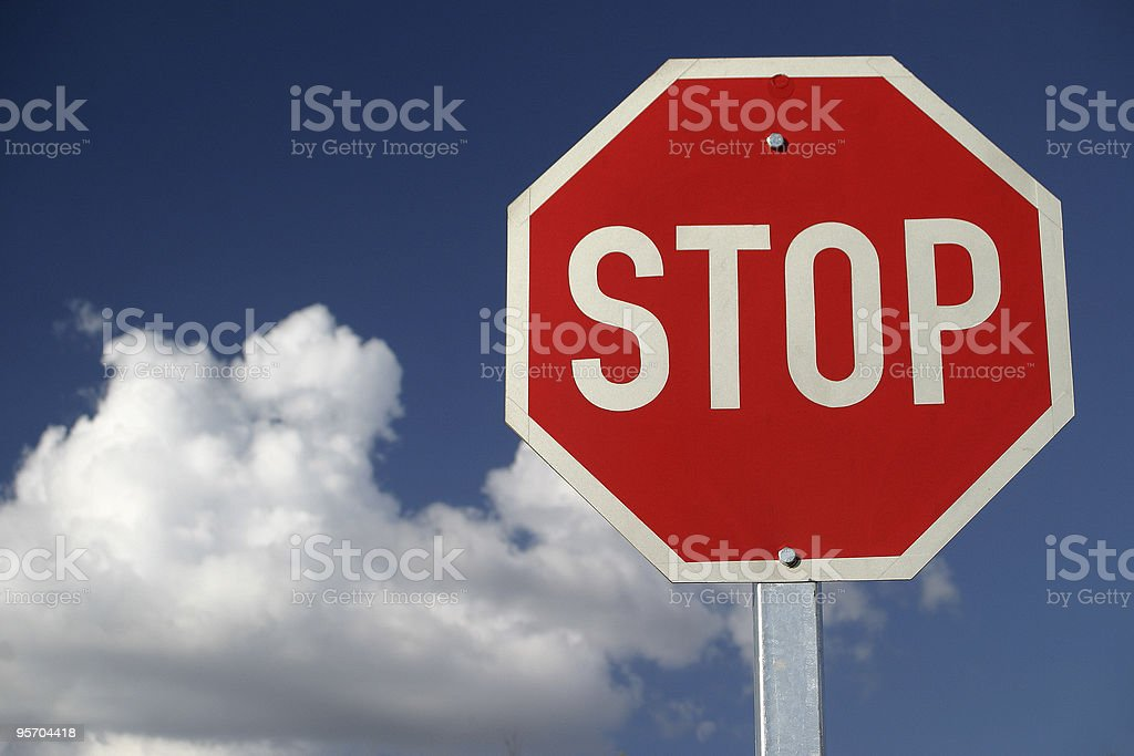 Red Stop Sign royalty-free stock photo