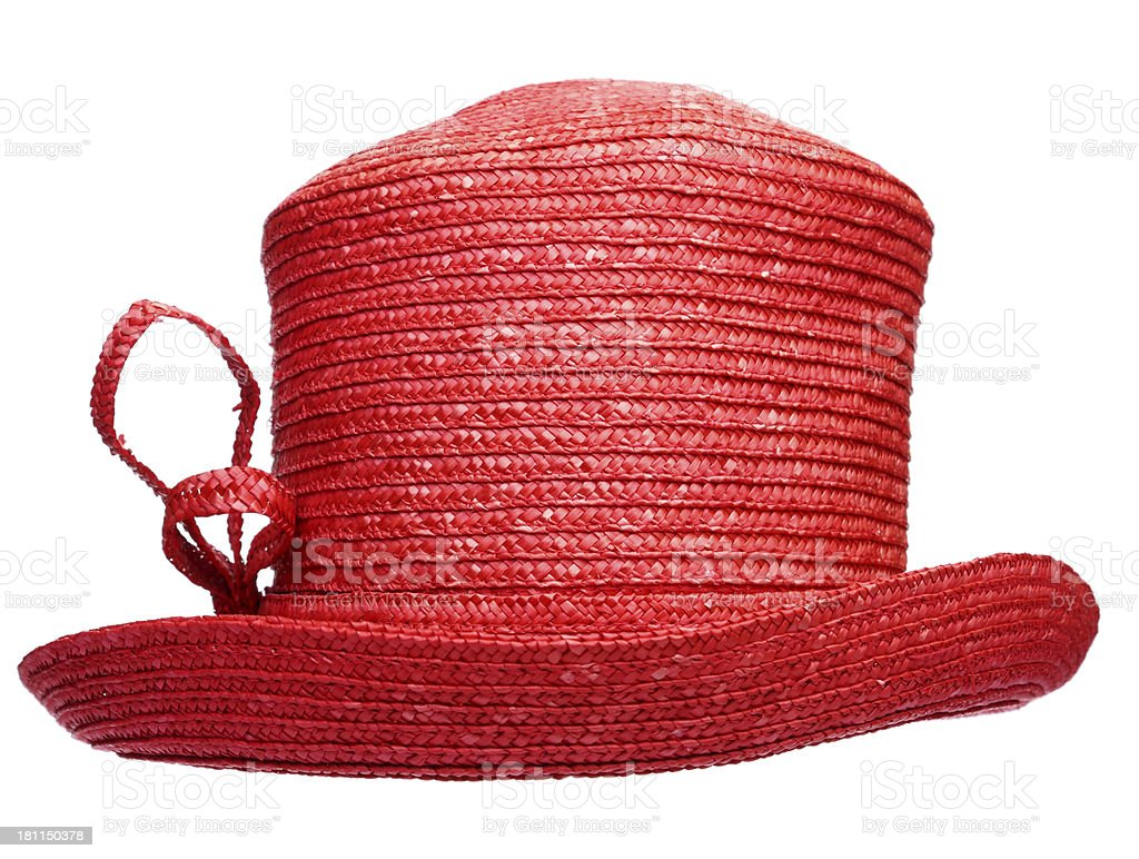 Red Straw Hat royalty-free stock photo