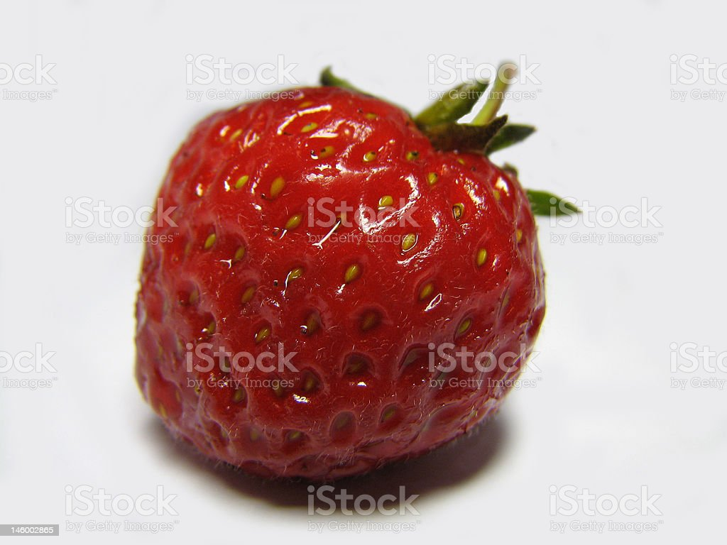 Red strawberry 2 stock photo