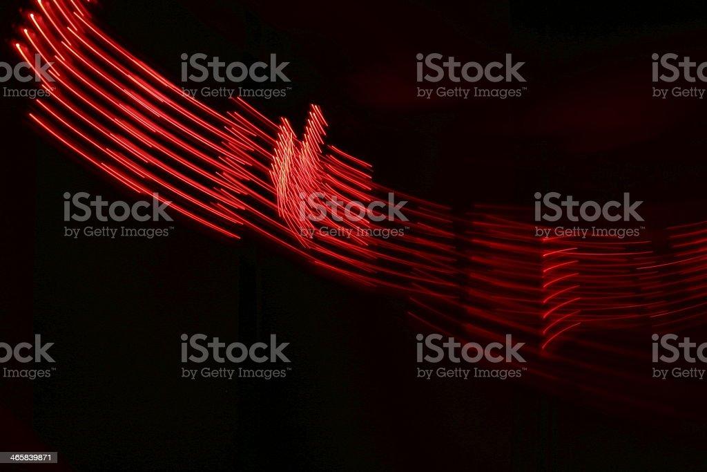 Red Streaks in the Dark stock photo
