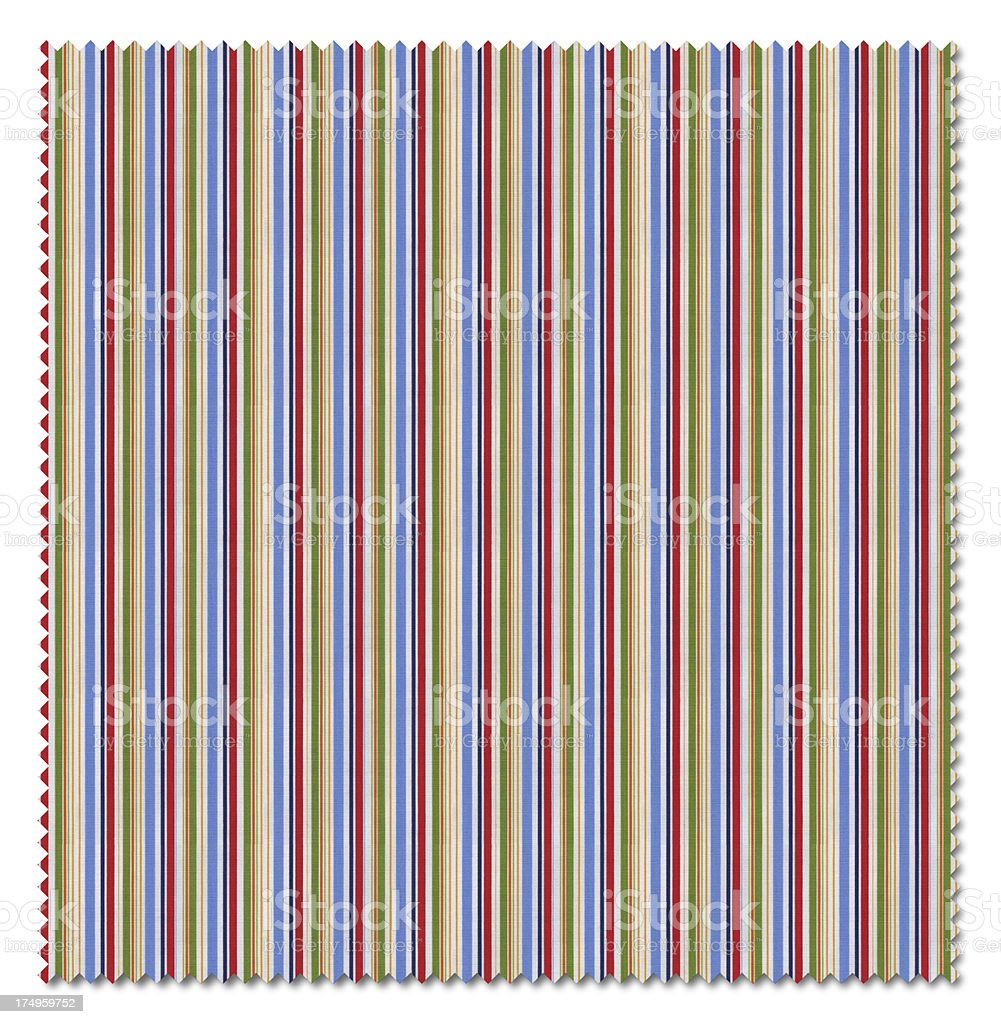 Red Striped Pattern Fabric Swatch (Clipping Path) royalty-free stock photo