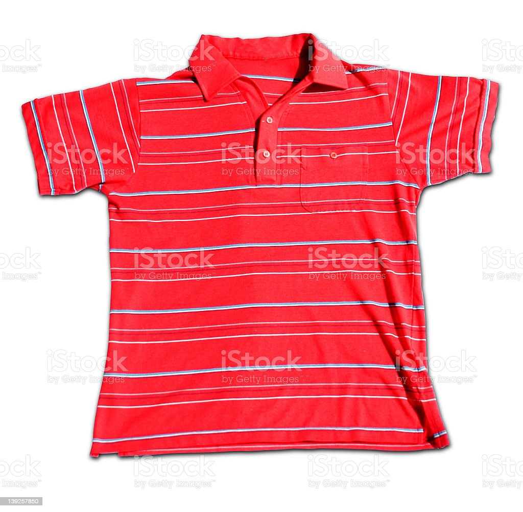 Red Striped Polo Shirt royalty-free stock photo