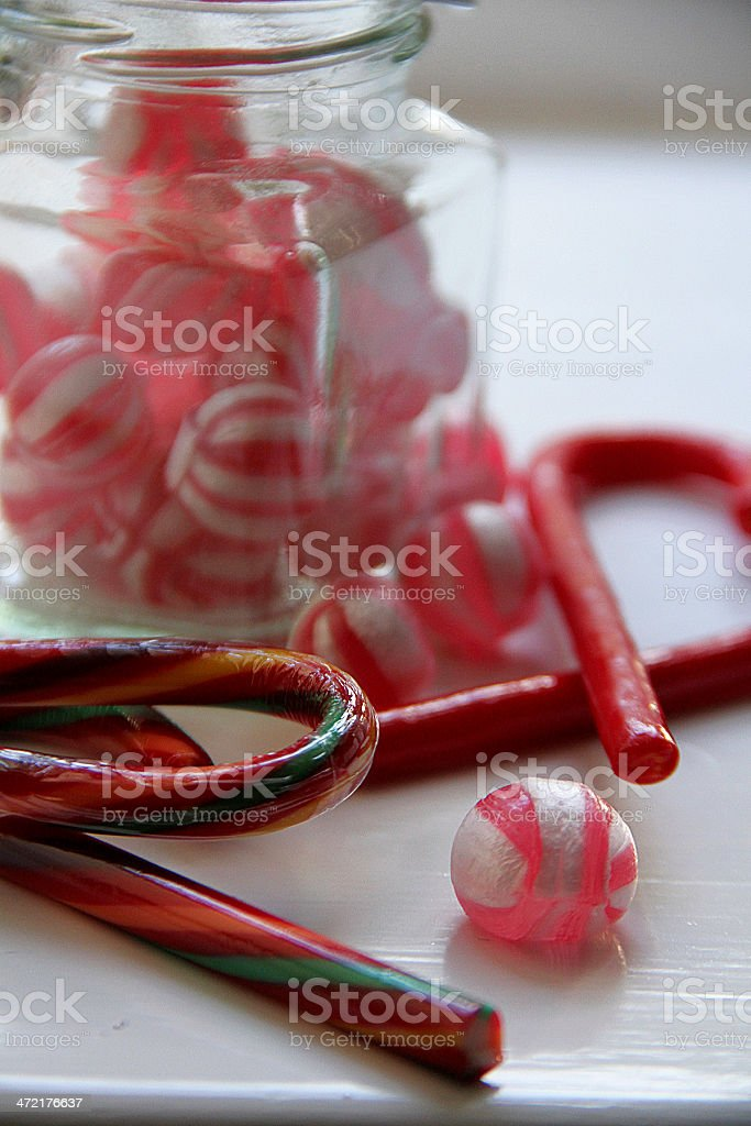 Rosso nudi vintage cioccolato in un barattolo di vetro. foto stock royalty-free