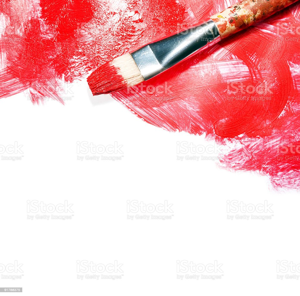 Red strokes on white royalty-free stock photo