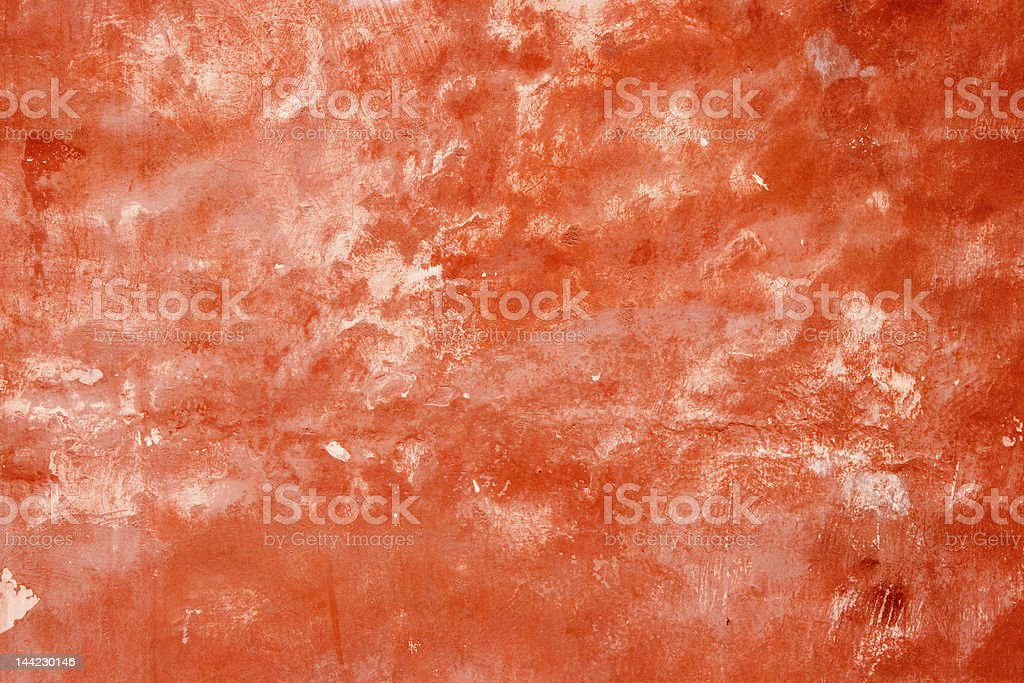 Red stucco texture - 2 royalty-free stock photo