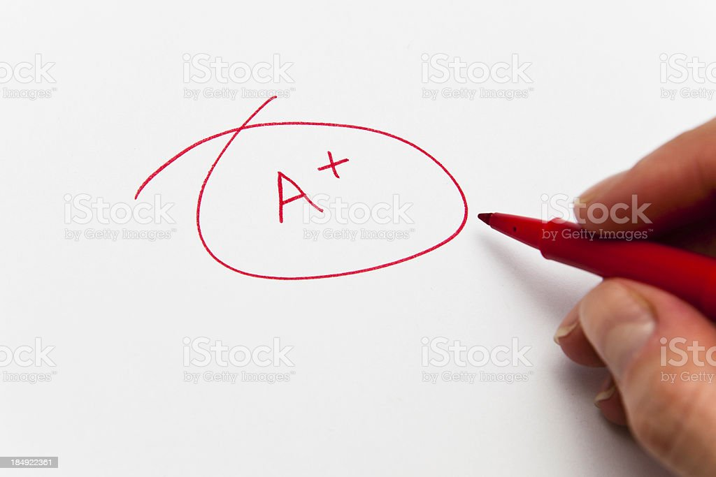 Red successful pass mark royalty-free stock photo