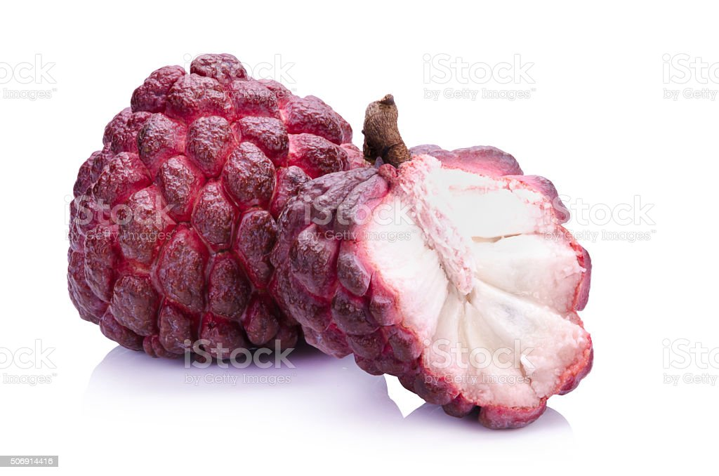 Red Sugar Apple fruit stock photo