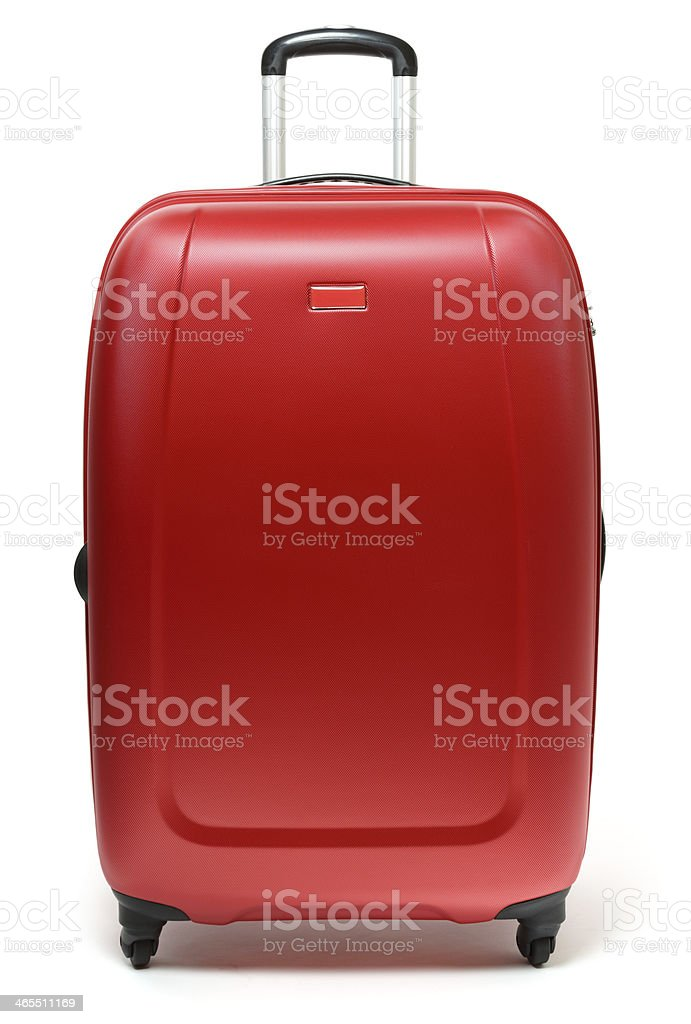 Red Suitcase stock photo