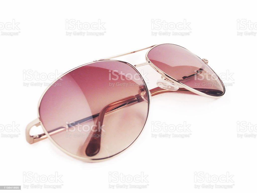 Red sunglasses isolated - Clipping path royalty-free stock photo