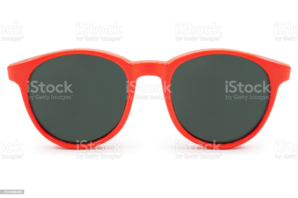 red sunglasses stock photo