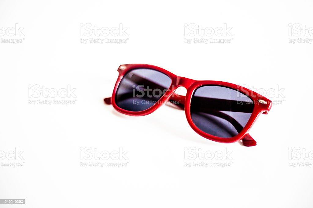 red sunglasses stock photo