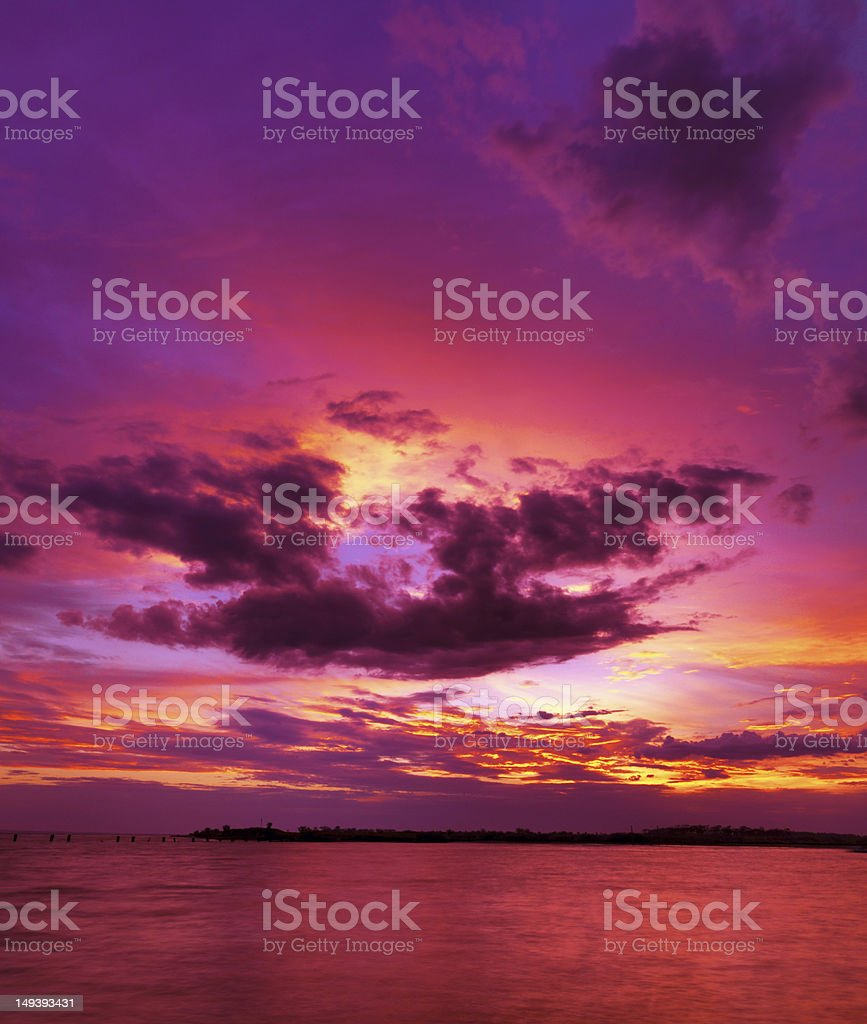 Red Sunset stock photo