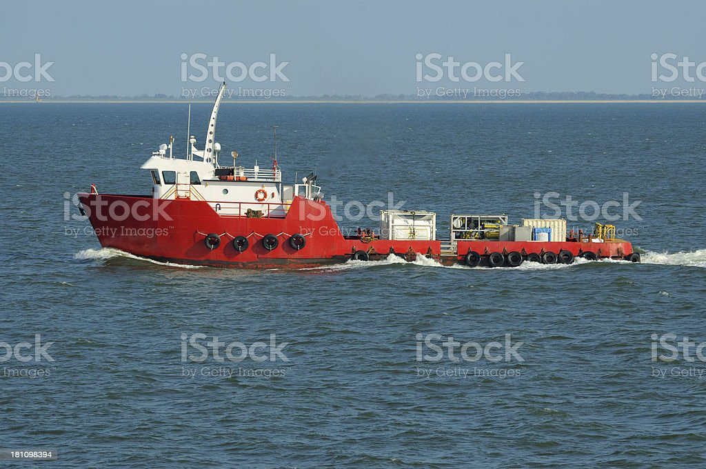 Red Supply Vessel stock photo