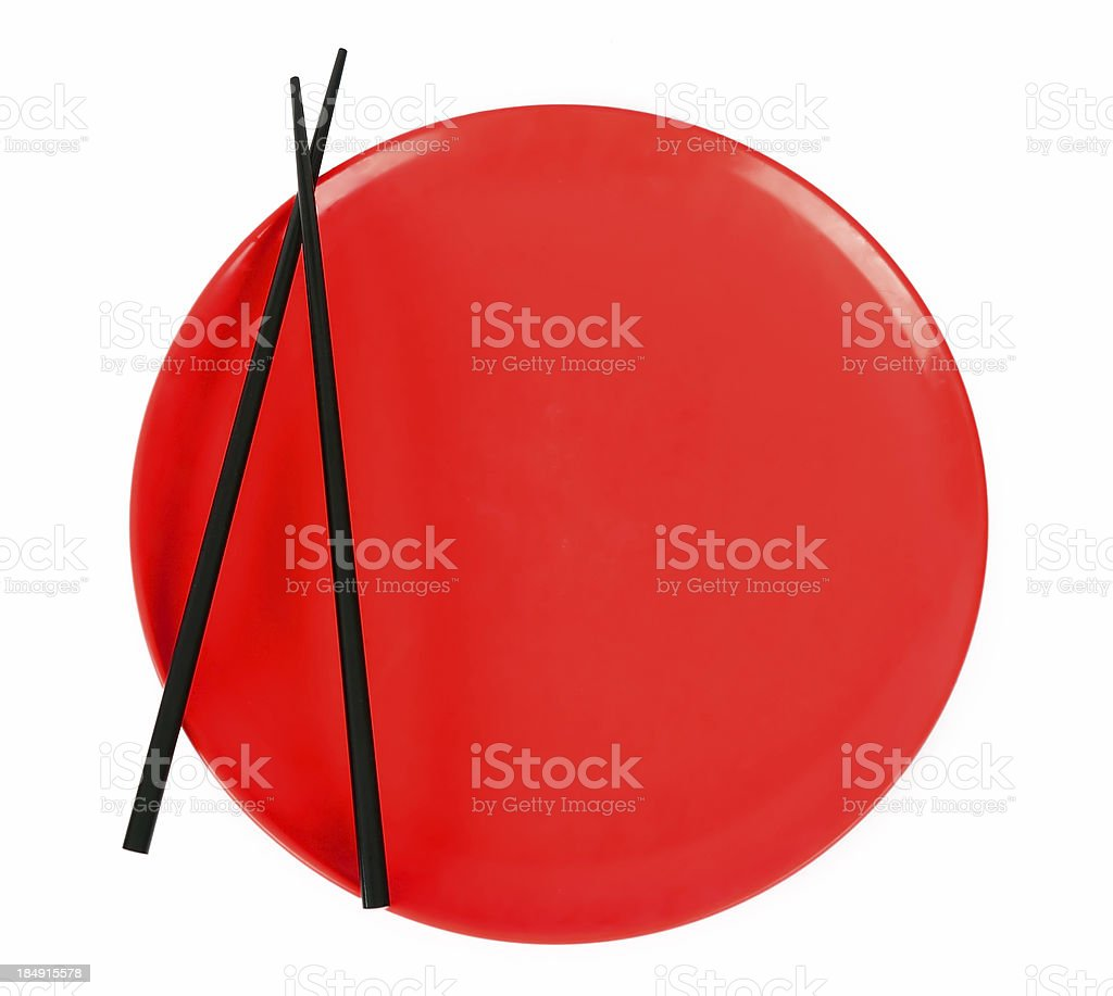 Red Sushi Plate 3 royalty-free stock photo