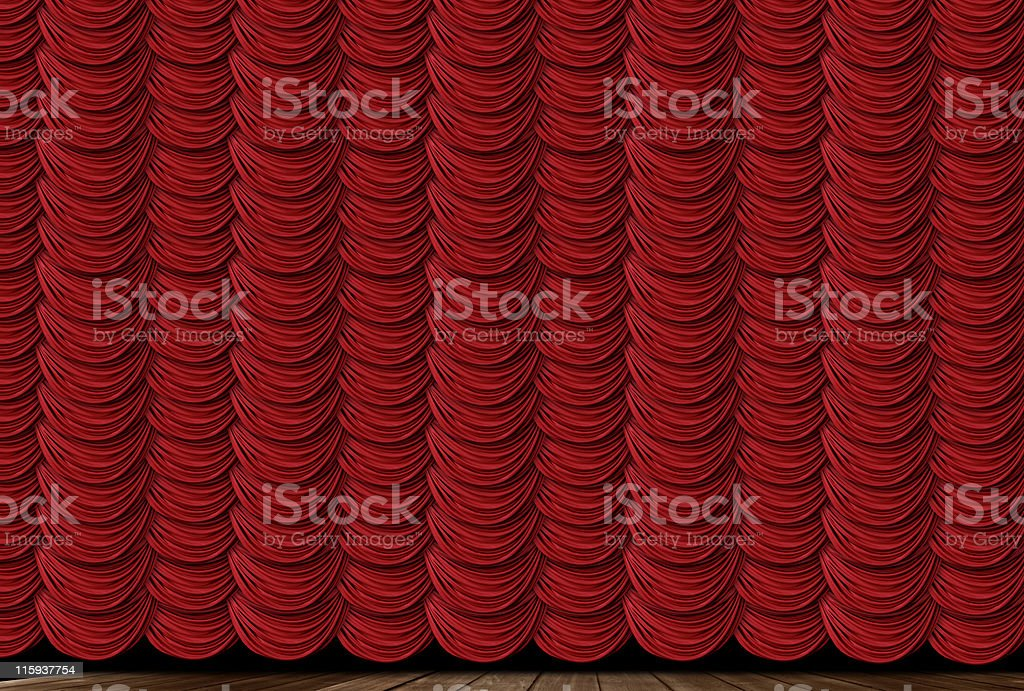 Red Swag Drapes royalty-free stock photo