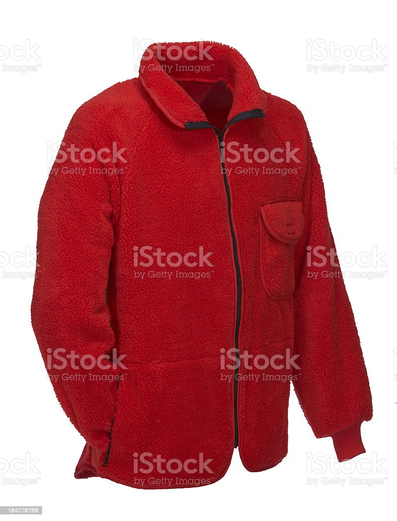REd Sweat-shirt on white background stock photo