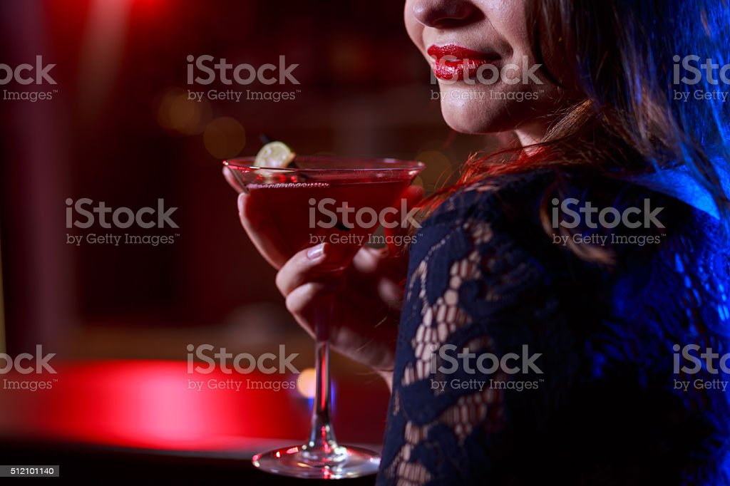 Red sweet drink stock photo