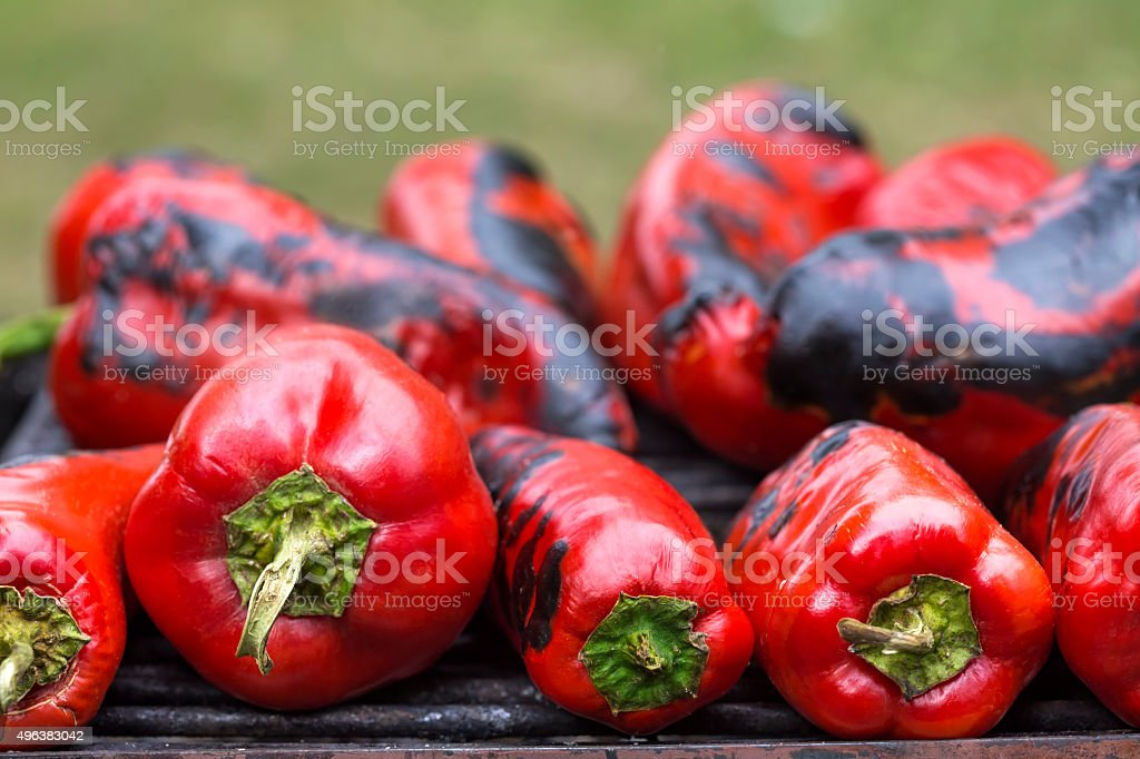 Red sweet pepper stock photo