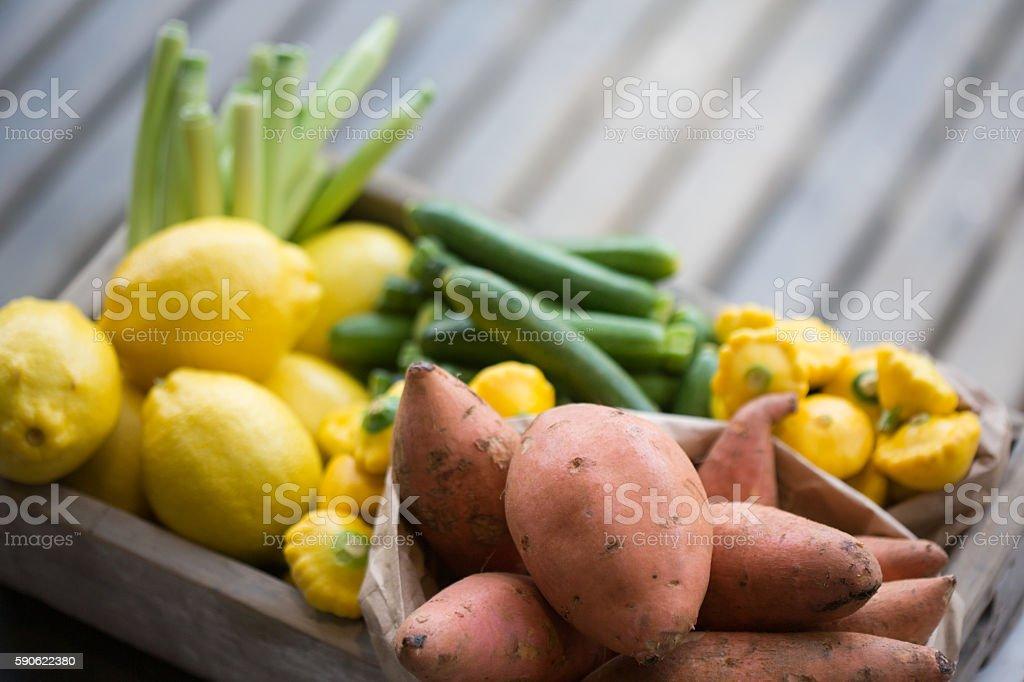 Red Sweet Potatoes stock photo