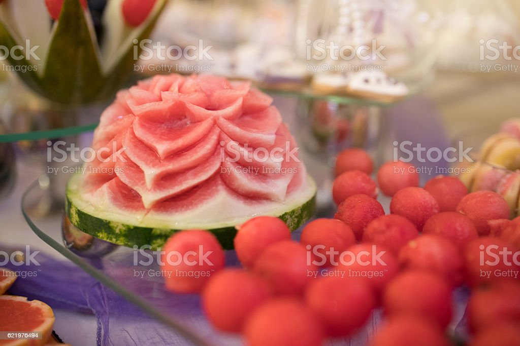 Red sweets stock photo