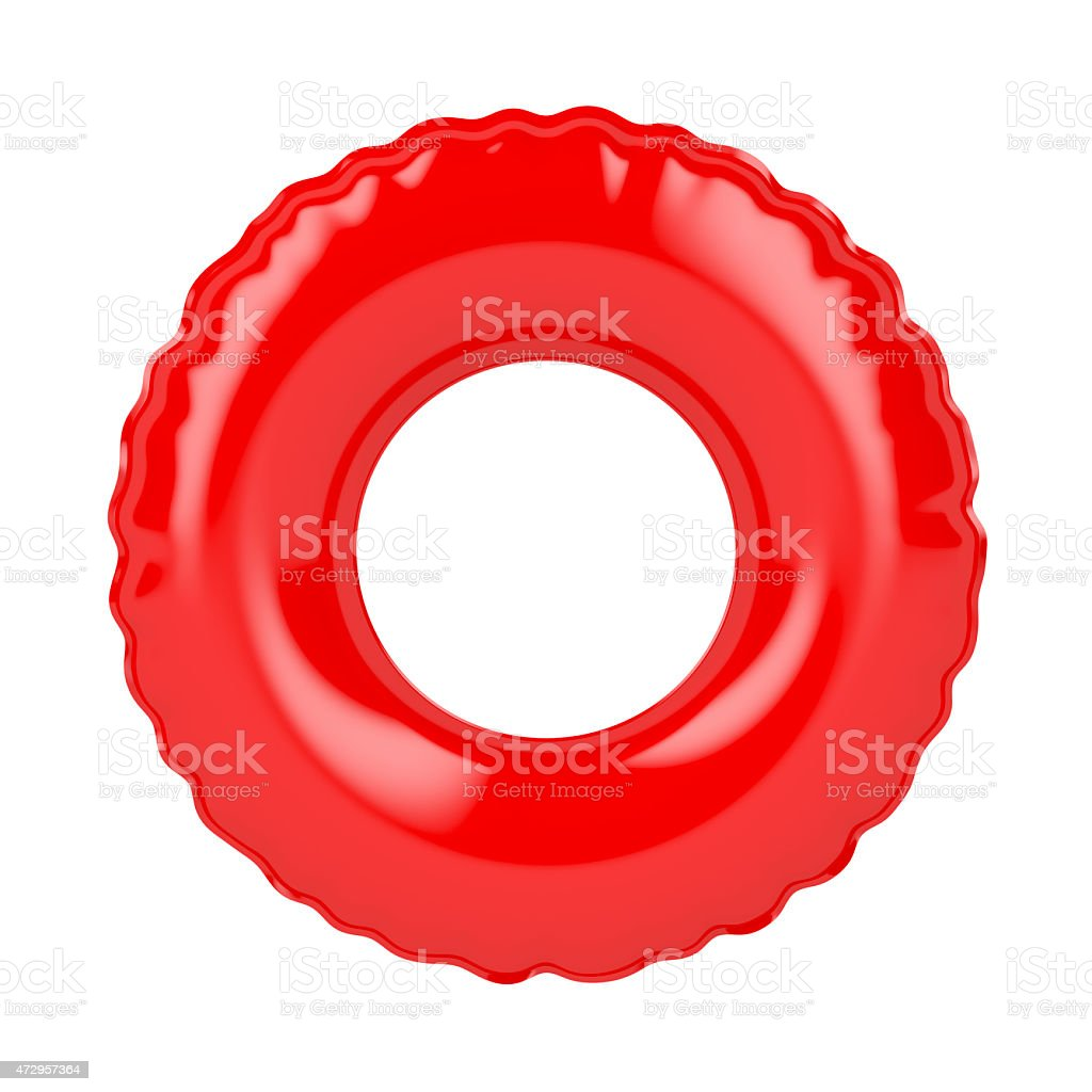 Red swim ring stock photo