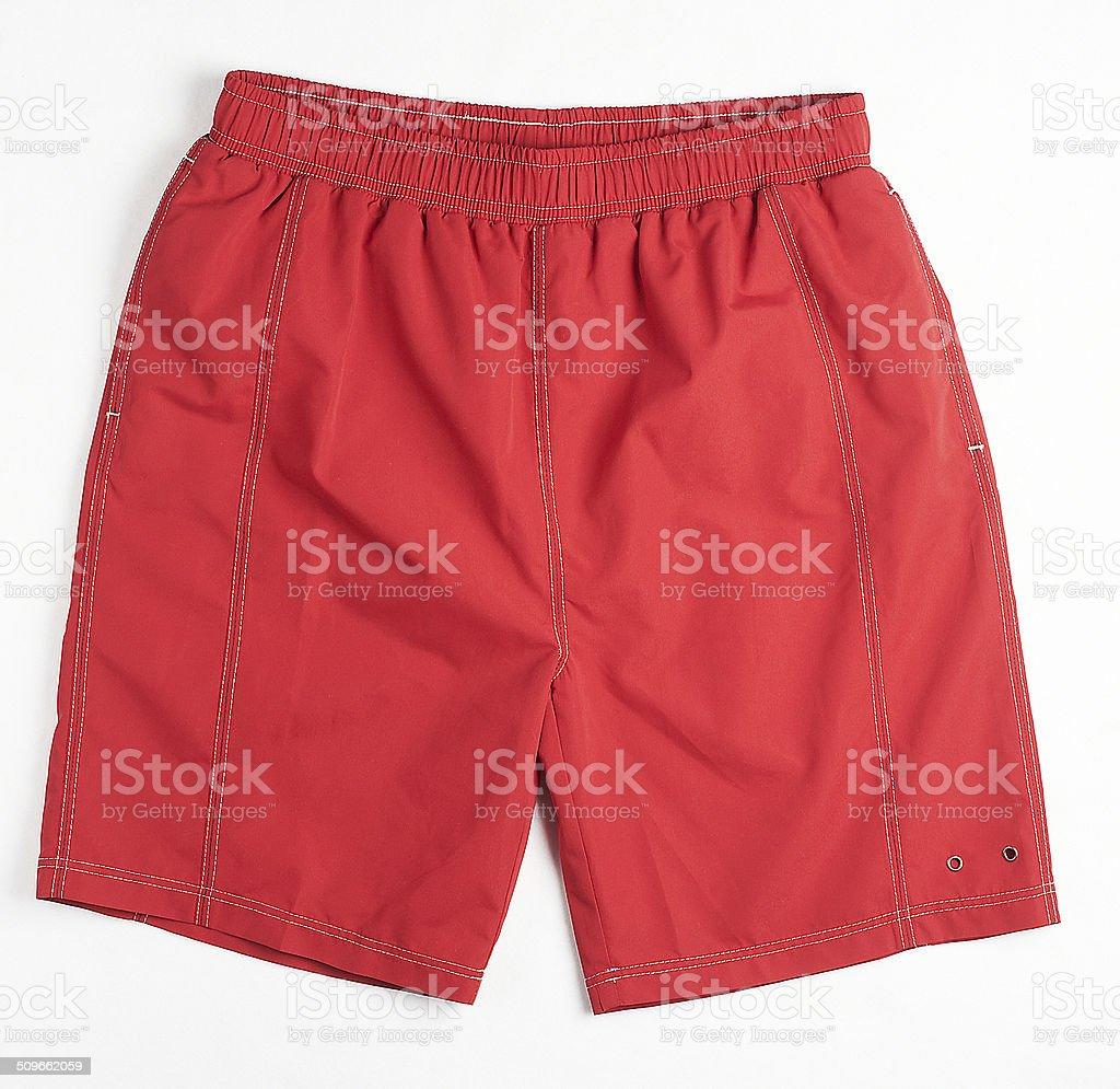 Red swimming short stock photo
