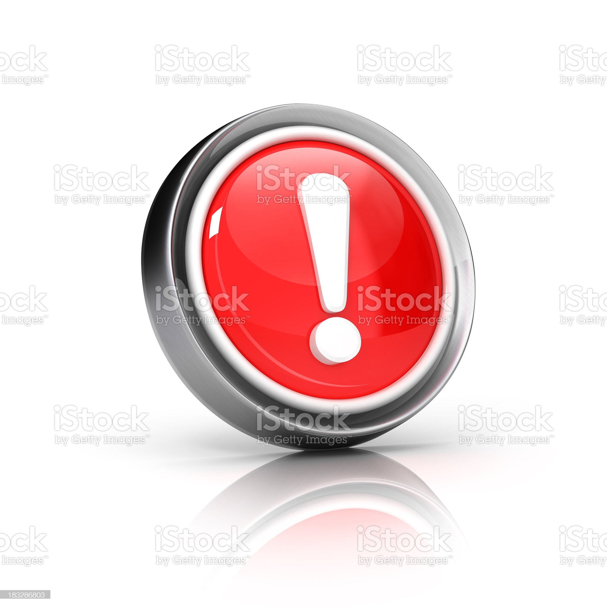 Red symbol conveying an error message royalty-free stock photo