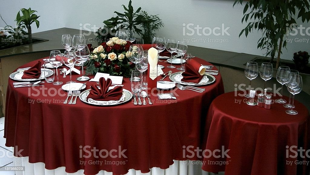 red table setting royalty-free stock photo