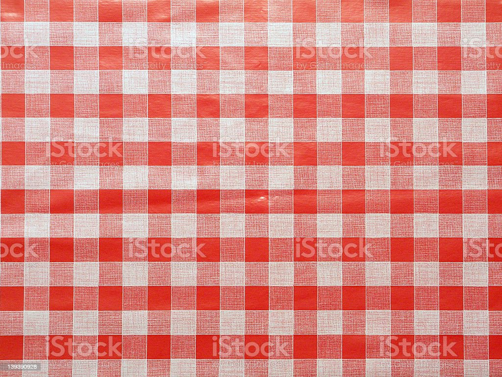 Red tablecloth with red and white royalty-free stock photo