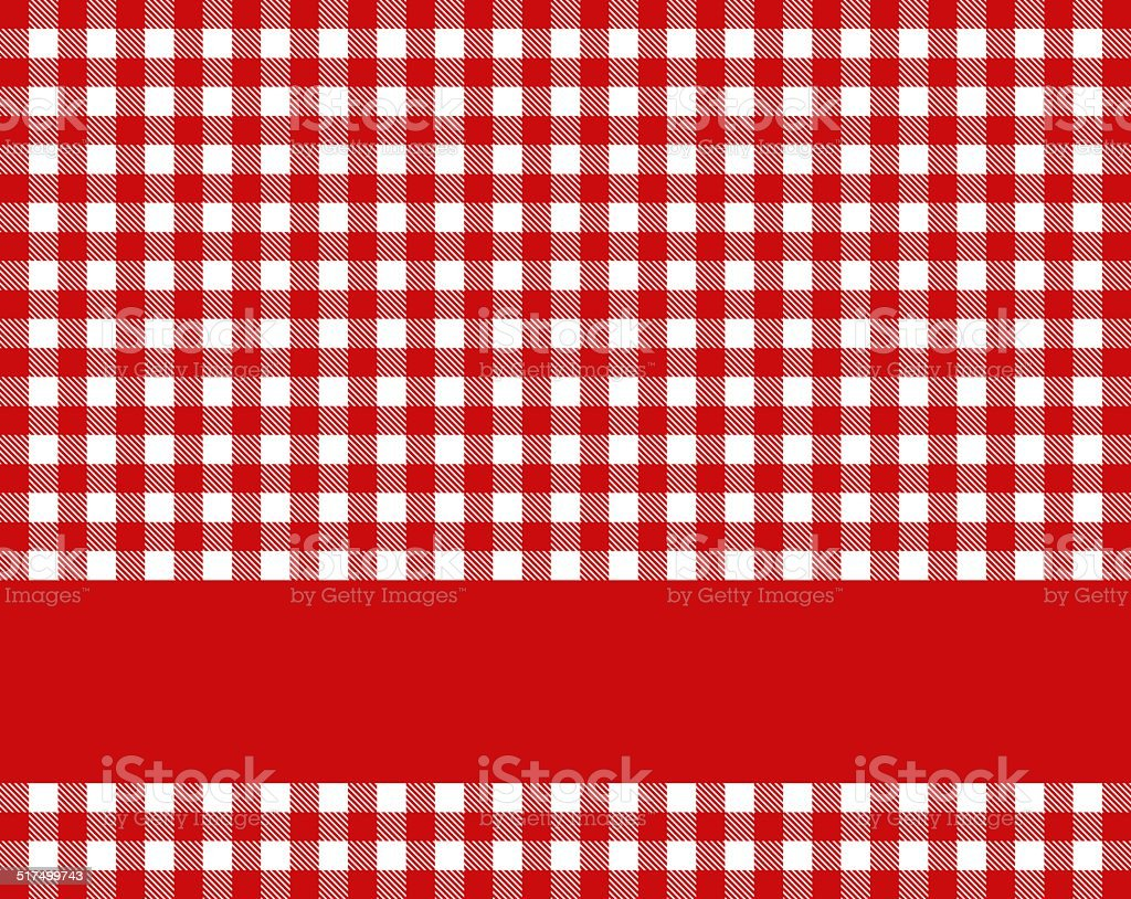 Red tablecloth with stripe stock photo