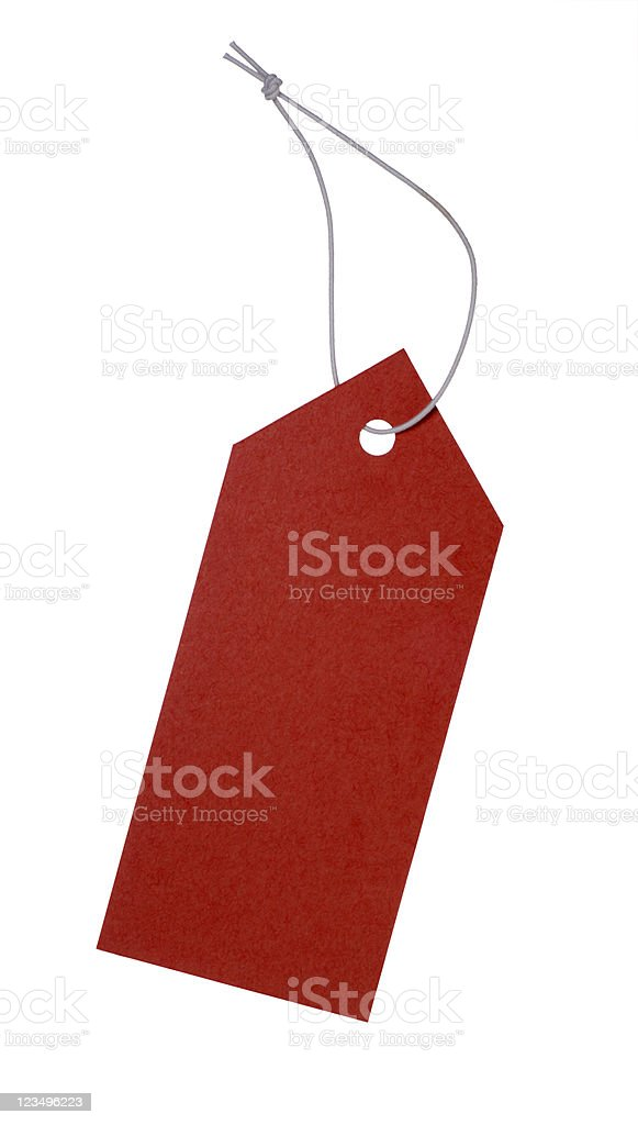 red tag sale stock photo