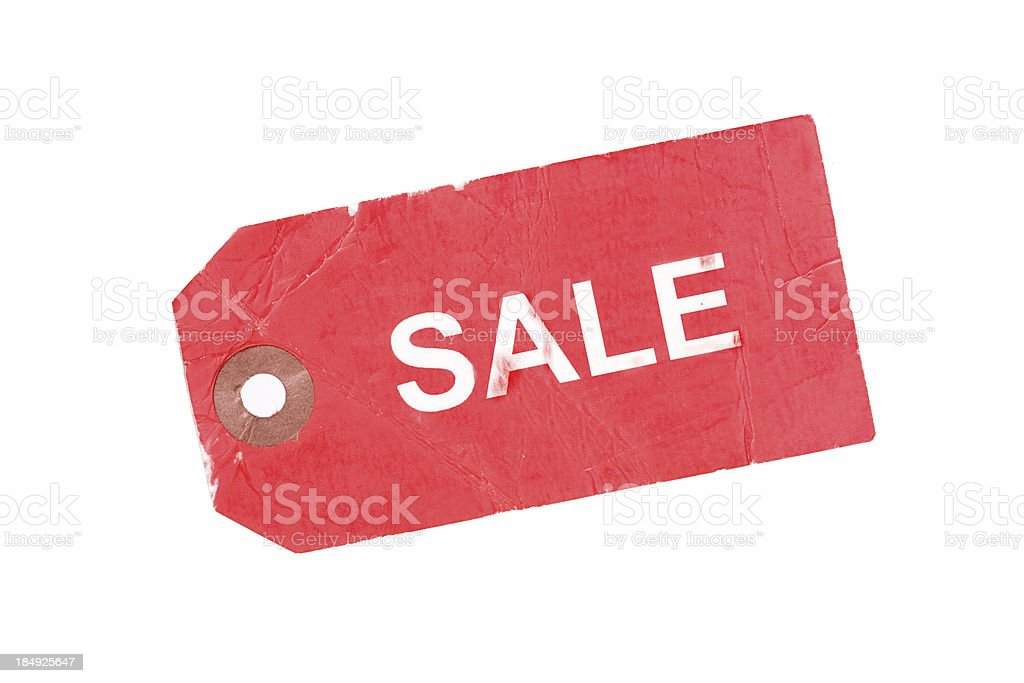 Red Tag Sale royalty-free stock photo