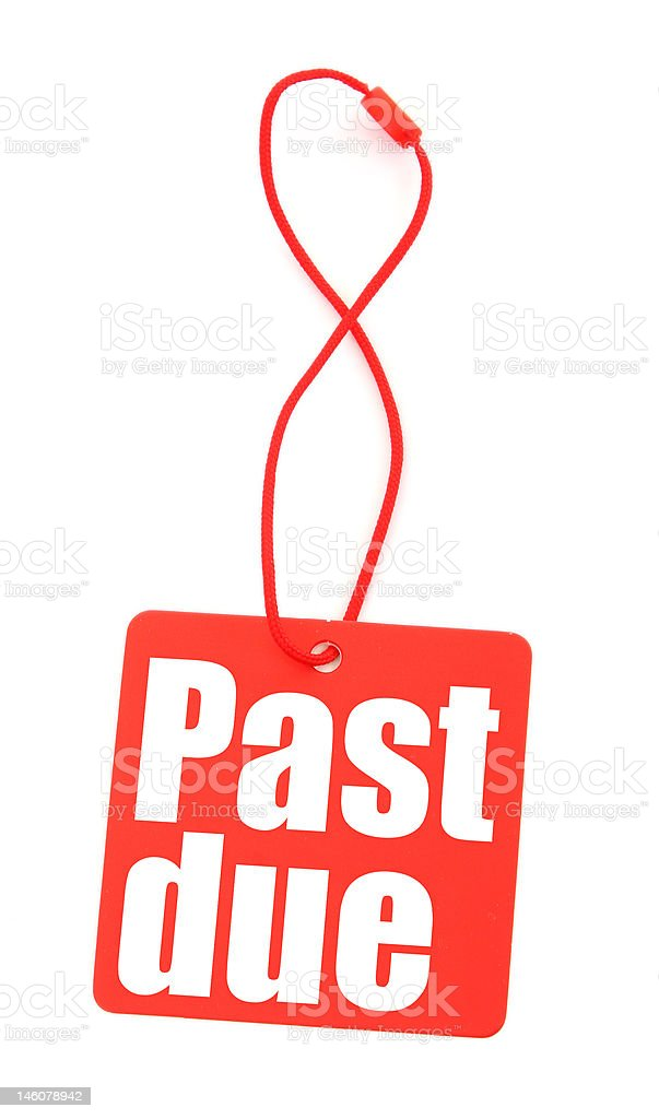 red tag with past due inscription royalty-free stock photo