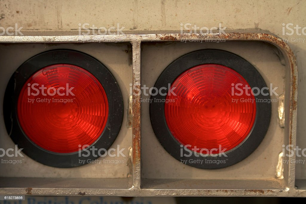 2 Red Tail Lights stock photo