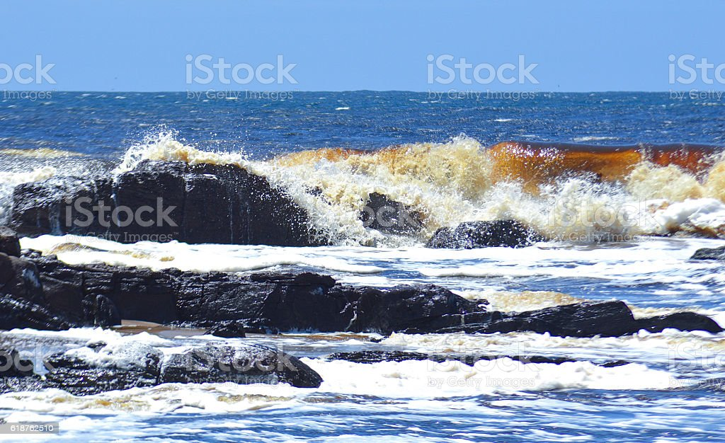 Red tainted ocean royalty-free stock photo