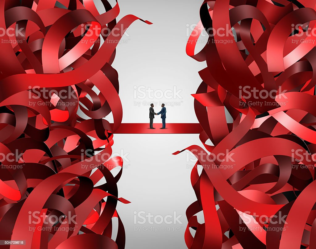 Red Tape Solution stock photo